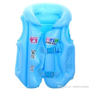 Factory wholesale Inflatable swimsuit children's inflatable swimming vest swim ring men and women thickened life jacket