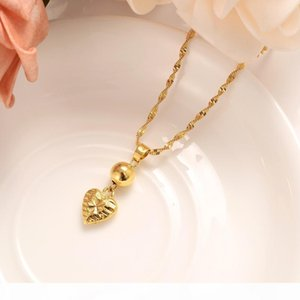 S Heart Jewelry Sets Classical Necklaces Earrings Set Fine Gold Gf Arab Africa Wedding Bride &#039 ;S Dowry Women Girls Gif