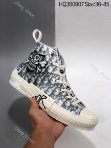 Dior B23 Oblique Low Top Sneakers Livraison gratuite Marque B23 nouveau bas haut sepetleri Hommes paten chaussures dökmek spor kaykay ayakkabı de