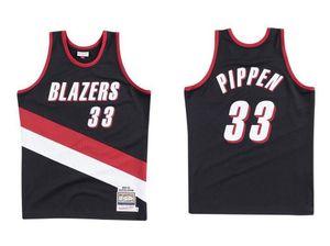 Basquete dos homens PortlandTrilhaBlazers.33 Scottie.Pippen Mitchell Ness 1999-00 Hardwoods Classics Jersey autêntica