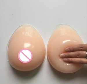 1 Pair Silicone Women Silicone Breast Forms Self-adhesiv Artificial Breasts For Postoperative Crossdresser Chest Protection T200721