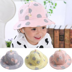 Cotton Baby Bucket Hat Wide Brim Cute Kids Summer Sun Visor Caps For Baby Girl Boy Infant Outdoor Beach Hats bonnet enfant
