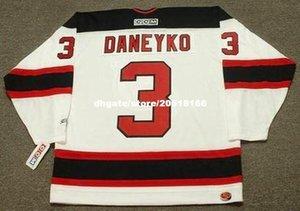 заказ Mens Кен Данико Нью-Джерси Дэвилз 2003 CCM Главная Дешевые ретро хоккей Джерси