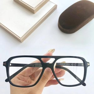 2020 New Quality TF5585 Rectangular Pilot plank glasses frame 57-16-145 double-bridge designed frame for prescription glasses full-set case