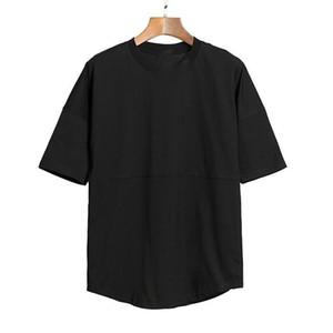 2020 New Mens Camisetas Tee Bat Sleeve Homens e Mulheres Oversize Solto Redondo Collar Cotovelo Manga T-shirts 1329