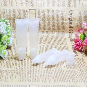 Прозрачная пластиковая губная помада трубы Soft Tube Chapstick Слейте Блеск для губ Контейнеры макияжа Инструменты для путешествий 8ml 10мл 15мл Косой Mouth 0 37ym D2