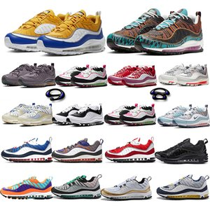98 Bubble Wrap Halloween Running Shoes 98s de 3M CNY ponce Hommes Femmes Blanc Rouge sport en cuir Chaussures Taille 36-45