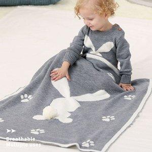 المولود الجديد محبوك لطيف 3D عربة غطاء غطاء قمط التفاف طفل الفراش لحاف 75x95cm