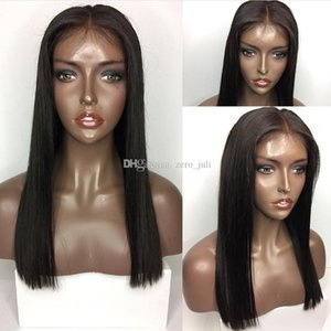 5*4.5'' Silk Top Glueless Full Lace Human Hair Wigs Brazilian Virgin Hair Silk Base Lace Front Wigs With Baby Hair Natural Hairlin
