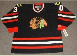 mulheres costume Homens Jovens Vintage # 30 D Belfour Chicago Blackhawks 1992,1996 CCM Hockey Jersey Tamanho S-5XL ou personalizado qualquer nome ou número