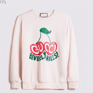 Herbst und Winter alle Baumwolle Männer und Frauen Pullover super hohe Qualität Rundhals zwei Pfirsich Herzen Beverly Hills digitale Direktbesprühung