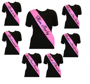 Elegant Hen Party Sash Pure Colors Etiquette Shoulder Strap Gay Best Friend Sashes Fit Wedding Supplies 1 25mt E1