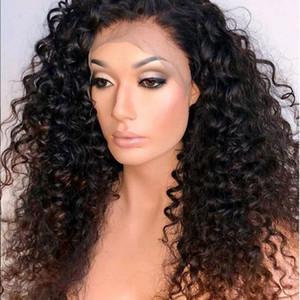 Miele Blonde 250 Deep Curl 13x6 Parrucche di capelli umani anteriori del merletto Capelli del bambino Preplucked Remy Brazilian Water Wave Ombre Ombre Parrucca anteriore del pizzo
