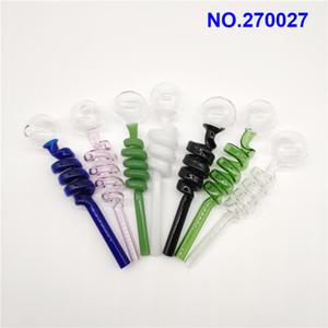 Beliebte Pyrexglas Ölbrennerrohr Günstige Farbiges Glas Wasserrohr Bubbler Pyrex Ölbrenner Pipes Rauchen Wasserpfeife Tabak za