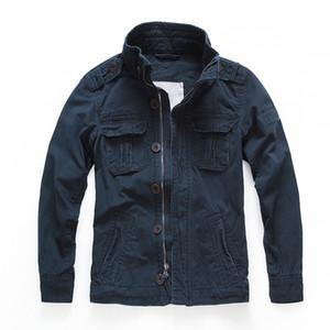 Men's Camouflage Men's Denim Pocket Retro Jacket Cotton Casual Jacket Solid Color Men's Jacket Sports Long Sleeve