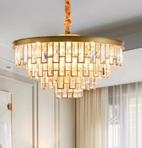 teto criativo Nordic moderna acende luzes pingente luz de cristal de luxo quarto lustre de estar lâmpadas de iluminação lustre Europeia