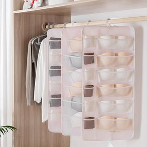 Double-Sided Rack hanging bag Dorge bedroom household wall-mounted underwear socks underwear storage bag storage rack
