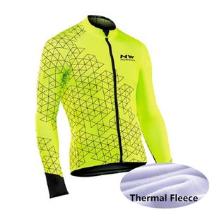 NW team Cycling Winter Thermal Fleece Jersey men Long Sleeve Bicycle Clothing Windproof MTB Bike Jersey tops X71001