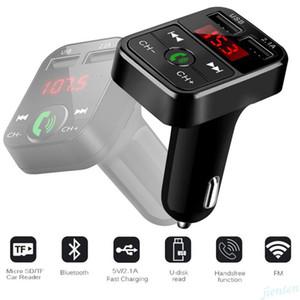 Car Kit B2 Multifunction Bluetooth FM Transmitter 2.1A Dual USB Car Charger FM MP3 Player Car Kit Support TF Card Handsfree U-Disk