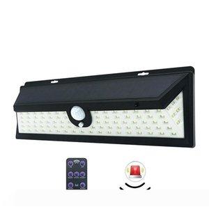 Edison2011 Nuova 92 LED Luce solare della parete con funzione di allarme 1200LM esterna luminosa eccellente Lampade solari 3 modalità di lavoro PIR induzione umana