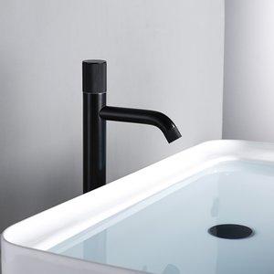 Valve Bagnolux nero opaco da bagno rubinetto Single Hole acqua calda e fredda foro rotondo Ottone Nucleo rubinetto Medio Lungo