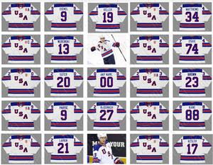 2010 2014 USA Olympic Hockey ritorno al passato Jersey 34 Auston Matthews # 24 Ryan Callahan # 20 Ryan Suter # 9 Zach Parise 88 Patrick Kane Jack Eichel
