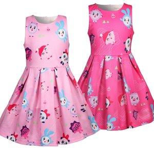 Дети Детских Маленьких девочек платье Malyshariki мультфильм смазливых рукава малыши лето малыши Пачка платье для 2 3-5 6 7 лет