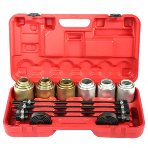 Overseas DE AU 26pcs Auto-Universal Bush Bearing Removal Insertion Tools Set Presse Pull-Hülsen-Kit Carbon Steel Auto Bearing Werkzeuge