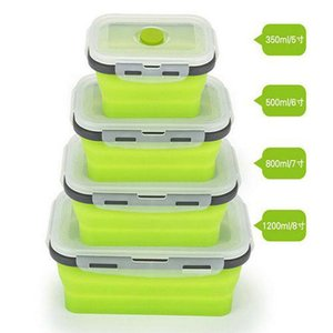 2016 Hot Item Portable Collapsible Food Storage Container Folding Lunch Box Microwave Oven Bowl Bento Box Portable Collapsible Food xDuxD