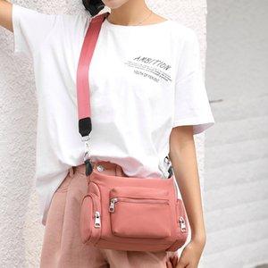 CZsoe Korean style fresh nylon cloth art messenger multi-pocket women's nylon cloth bag light casual large capacity single shoulder Women's