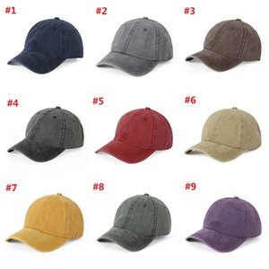 Ponytail Baseball Cap 9 Colors Washed Cotton Solid Color Breathable Sunshade Hat for Women Outdoor Sun Protection Cap T3I5946
