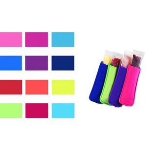 Neoprene Popsicle Holders Sleeve Ice Pack Insulation Child Freeze Protection Cover Popular Solid Color Ice Sleeves CCA12334 120pcs