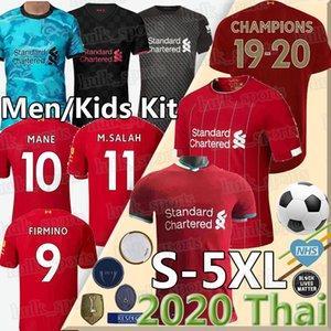 LVP محمد M. SALAH فيرمينو جيرسي لكرة القدم قميص كرة القدم 20 21 فيرجيل MANE KEITA 2020 2021 قمصان الرجال + الاطفال عدة زي تايلاند