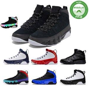 9 9s Racer Blue Dream It Do It UNC Mens Basketball Shoes LA OG Space Jam Bred L'Esprit Anthracite sporst formateurs baskets