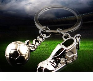 Metal Football Shoes Keychain Accessories Soccer Ball Key Chain Ring Hloder Fashion Man Car Pendant Women Bag Charm Pendant NN