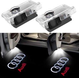 Logotipo de la puerta del coche LED de luz del proyector fantasma luces Sombra Símbolo del emblema Cortesía paso positivo para Audi A3 A4 A5 A6 A7 A8 Q2 Q3 Q5 Q7 R8 RS
