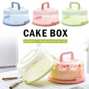 البلاستيك دائم المحمولة كعكة صندوق تخزين صندوق كعكة كب كيك الحاويات يده مطبخ أداة ختم عيد ميلاد زفاف