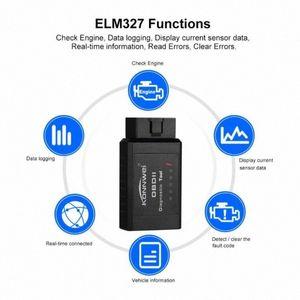 ELM327 OBD2 블루투스 이상 진단 장비 미니 테스터 자동차 도구 코드 문제 리더 스캐너 도구 오류 자동차 담당자 Z8X4 5CvY 번호