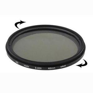 ND400 Filtresi 62mm ND Fader Nötr Yoğunluk Ayarlanabilir Değişken Filtre ND2