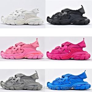 2020 трековых сандалии 3.0 новая пена навязки мужчины женщин сандалии нескользящей износостойкие износостойкие балансиага женские тройные S 20SS обувь
