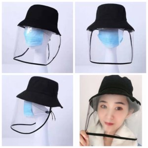 Epidemic Protection Hat Anti-spitting Protective Fisherman Cap Dust And Sand Protection Mask Sun-shade Bucket Cap ZZA1903