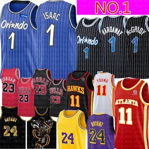 Jonathan NCAA # 1 Isaac Jersey 11 jerseys joven Michael retro de la universidad de malla Anfernee 1 hardaway Penny Hardaway # McGrady Isaac Baloncesto