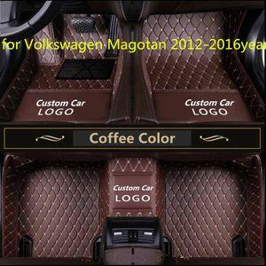 Terzi yapılan araba paspas su geçirmez PU deri malzeme, Volkswagen Magotan 2012-2016year için uygun