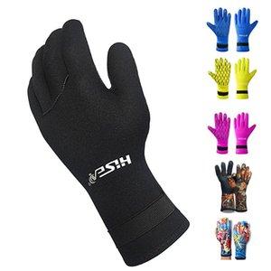 Hot 3MM Neoprene Scuba Dive Gloves Swim Gloves Snorkeling Equipment Anti Scratch Keep Warm Wetsuit Material Winter Swim Spearfishing