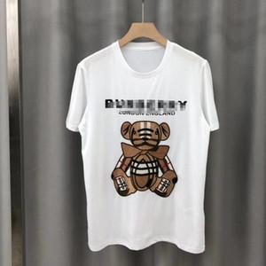 Été 2020 nouveaux hommes et femmes coton ours de broderie d'impression de mode en plein air design couples perdent de grande taille à manches courtes Marque T-shirt