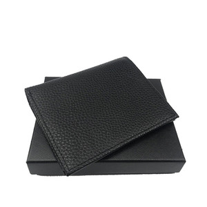 Высококачественные держатели мужских кошельков кредитных карт паспорта книга тонкого стиль складной бумажники топ кожаные сумки держатели ID с коробками