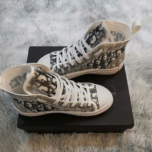 2019 white Bottom Designers Casual Shoes Sneakers Black Orlato Flats High Top Party Lovers Ladies Ace Genuine Leather Mens Womens New Shoes