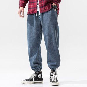 iiDossan 2020 Moda de gran tamaño Jeans pantalones vaqueros para hombre japonés Harajuku Casual Streetwear Hiphop alta calidad Denim