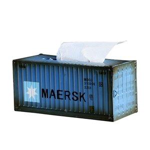 American Retro Industrial Containe Tissue Box Творческий Железный Crafts Салфетка Holder Главная Ресторан Desktop Tissue Box Держатель Decor