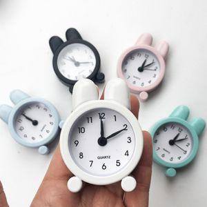 Портативный мини мультфильм Будильник с Cute Ear бытовой Симпатичные круглый номер Двухместный Bell Desk Таблица Digital Clock Home Decor